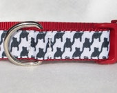Houndstooth Dog Collar, In M, L, XL Choice of Buckle Color