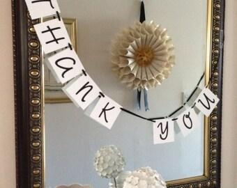 Thank You Banner Wedding Banner - Ready to Ship