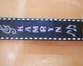 Leather Guitar Strap, Banjo Strap, Hand Carved Guitar Strap, Custom Guitar strap, Handmade Strap, Personalized Strap