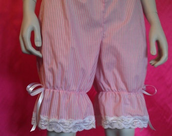 size uk 12 pink and white stripe bloomers
