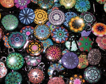 25 Kaleidoscope Zipper Pulls