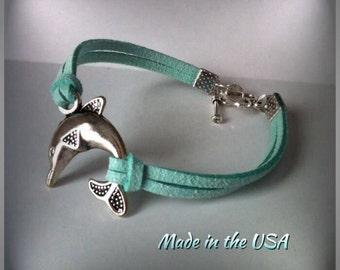 Dolphin bracelet, Charm bracelet, Friendship bracelet