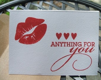 Mini Notecards - Anything for you - (Set of 12)