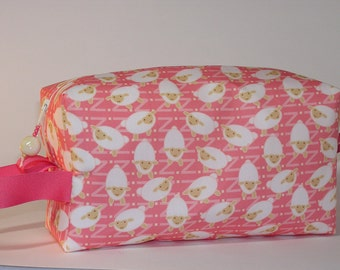 Little Lambzies on Pink Project Bag