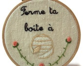 Traditional embroidery kit - Camembert