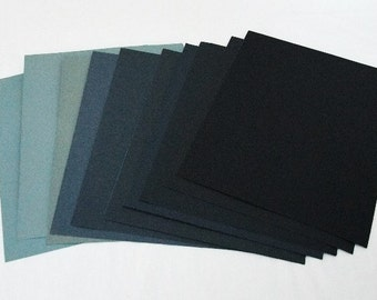 """10 Assorted Grits 180 - 3000 Wet / Dry Sand Paper  9""""x11"""" Sheets"""