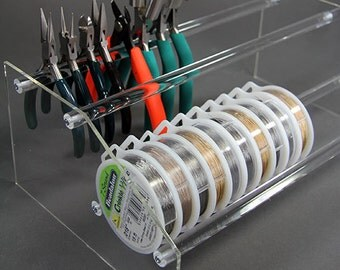 13 Inch Acrylic Wire, Tool and Bead Stringing Organizer