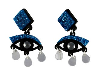 Meet the Maker - Exclusive eye drop earrings Refinery29 X Etsy Collab Meet the Maker