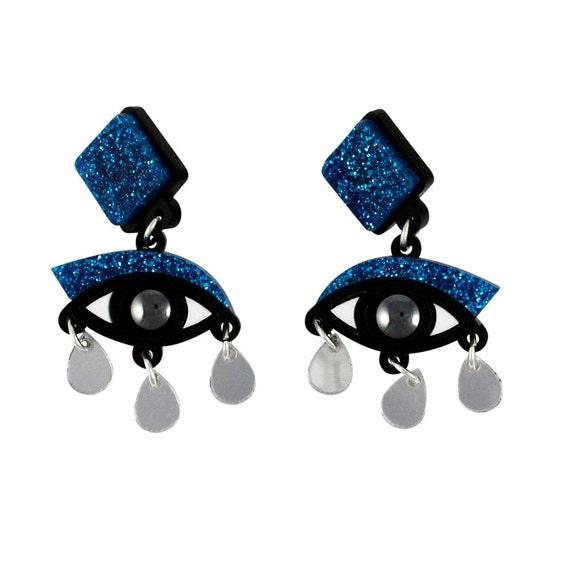 Meet the Maker - Exclusive eye drop earrings Refinery29 X Etsy Collab Meet the Maker
