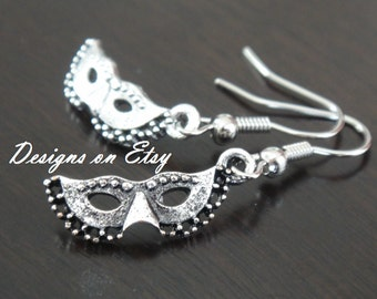 50 Shades of Grey Mask Earrings