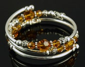 November Birthstone - Embraceling - Topaz Swarovski Crystal