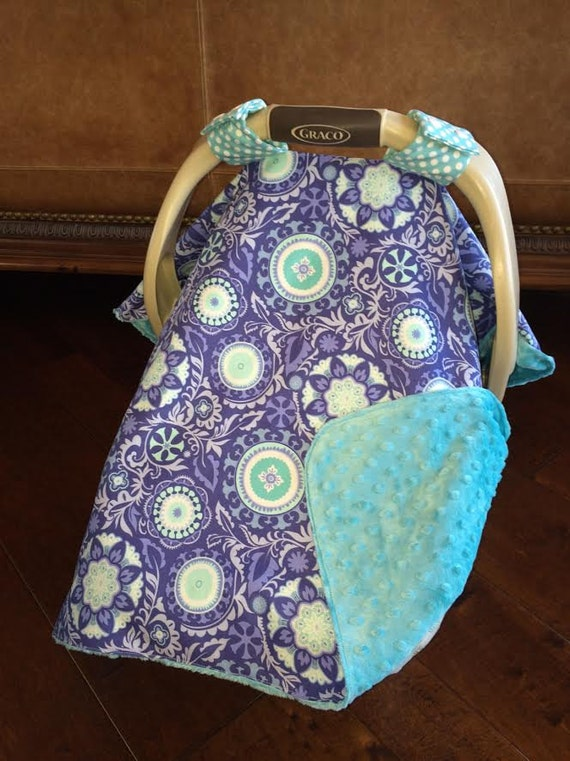 super cute baby car seat covers periwinkle and teal. Black Bedroom Furniture Sets. Home Design Ideas