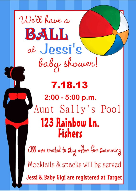 Pool party baby shower invitations choice image coloring pages adult pool party baby shower invitations image collections invitation filmwisefo