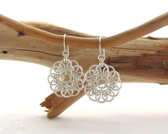 Argentium Silver Flower Earrings