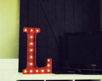"SALE Letter L - 24"" Vintage Marquee Lights"
