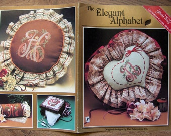 1980s cross stitch patterns Elegant Alphabet
