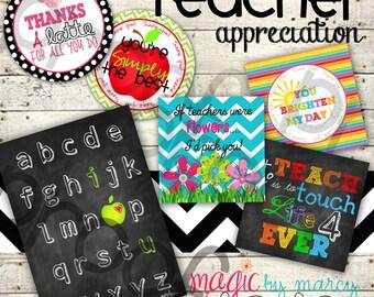 Instant Download Teacher Appreciation week gift tags