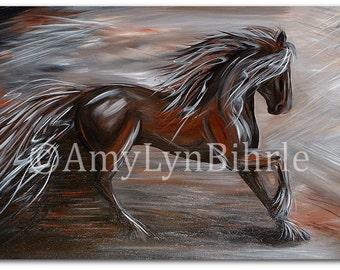 DreamWalker Wild Mustang Abstract Running Horse - ArT Print by Bihrle dw1