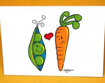Custom Peas and Carrot Wedding Invitations (50 quantity)