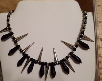 Black and Silver Points and Spikes  FREE SHIPPING