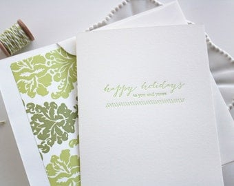 Letterpress Holiday Cards - Christmas Cards - Sage Holiday
