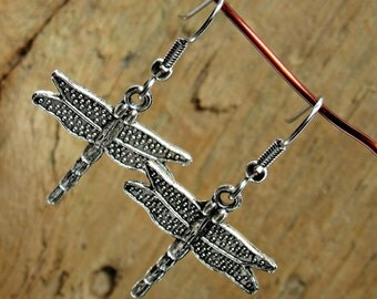 Dragonfly Earrings - Dragonflies - Dragonfly Jewelry - Dragonfly Charm Jewelry