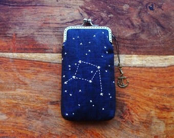 Personality iPhone Case/Glasses Case - Embroidery constellation ( iPhone 7, iPhone 7 Plus, Samsung Galaxy S7 etc. )