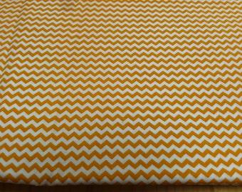 Mini Chevron print fabric orange