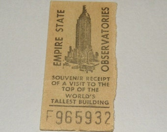 1950s Empire State Building Observatories ticket