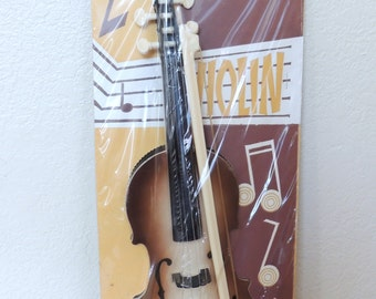 1950s Toy Violin in the Original Package by Carnival Toys