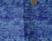 Sale Purple and Blue Mottled 100% Cotton Fabric Remnant  3/4 yd