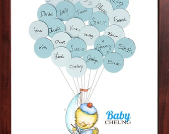 Baby Shower Guestbook- Rubber Duck in a Boat