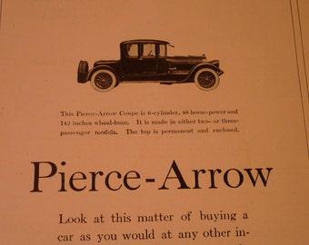 Vintage Ad - Pierce Arrow - 1918 original ad - made by Pierce Arrow of Buffalo