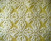 Lemon Chiffon Hofmann Supertuft Plush Vintage Chenille Fabric 12 x 24 Inches