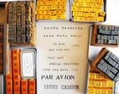 Our favorite alphabet rubber stamps