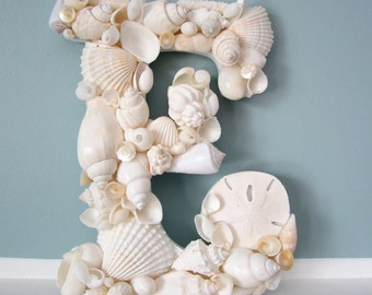 Beach Decor Seashell Letter, Nautical Decor Shell Letter, Shell Wall Letter, Seashell Wall Letter, Beach Wall Decor  #WSL100, #CSL100