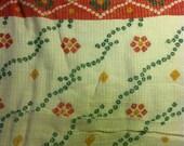 Indian cotton gauze sari