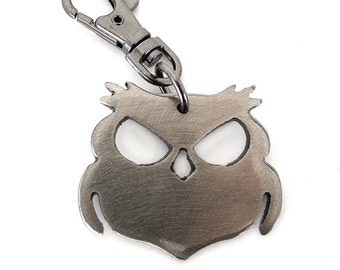 Wisecracker Outlaw Owl Key Chain/ Owl Keychain/ Evil Owl/ Owl Gifts/ Owl Stuff/ Owl Presents/ Owl Love/ Owl Gifts For Her/ Cool Key Chains