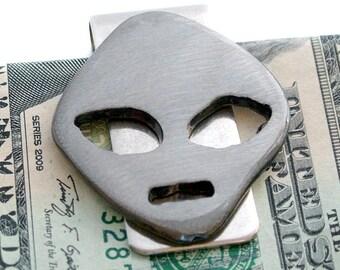 Alien Money Clip ,Best Man Gift, Groomsmen Gift, Handmade Money Clip, Alien Moneyclip, Scyfi Money clip,