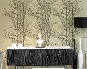Birds In Trees Allover Stencil - Trendy reusable wall stencils for DIY home décor