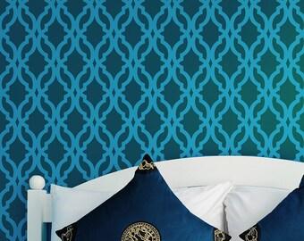 Tamara Allover Trellis Stencil - Large - Reusable stencils for walls. Easy DIY home decor.