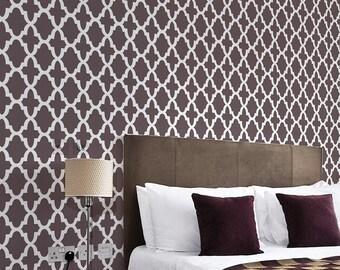 Hacienda Allover Stencil - Small - Trendy stencil pattern for DIY home décor. Better than wallpaper!