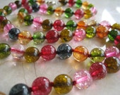 Rainbow Tourmaline Long Necklace