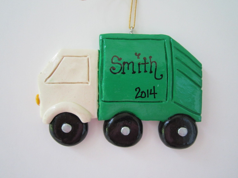 Rv ornament - Personalized Trash Garbage Truck Christmas Ornament