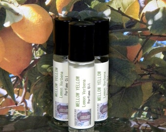 Lemon Verbena Perfume Oil, MELLOW YELLOW, Lemon Verbena Cologne Oil