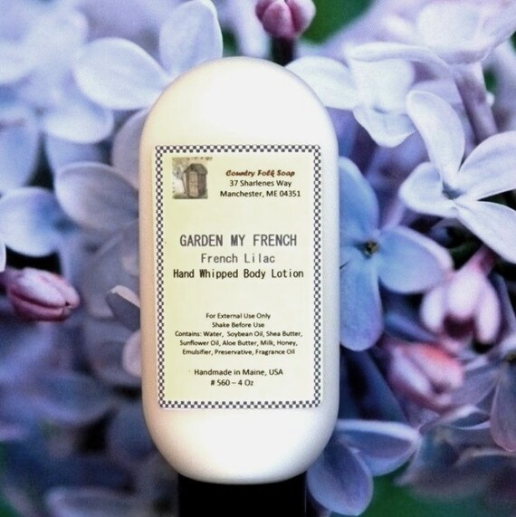 GARDEN MY FRENCH Lilac Lotion - Handmade Lilac Dry Skin Lotion