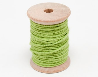 Baker's Twine - 20 Yards - Bright Apple Green - 4 Ply Twine on Wooden Spool