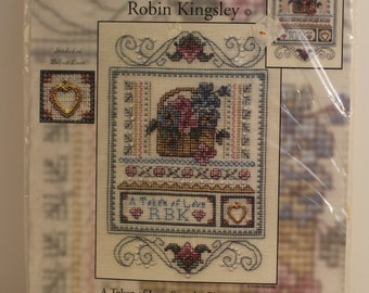 A Token of Love Sampler Counted Cross Stitch Kit