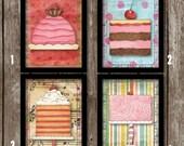 set di stampe di cucina 7 x 1 2 3 o 4 5 torta vintage stampe a parete art 5x7 art cucina wall decor torta stampe arte cucina retr