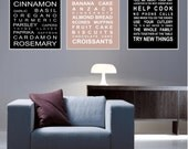 Foodie-Set of  3 - A3 subway bus roll wall art prints